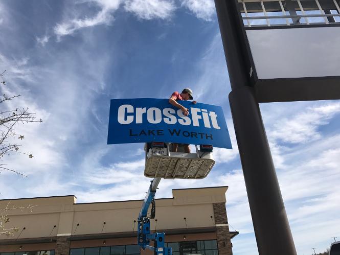 custom sign CrossFit Lake Worth