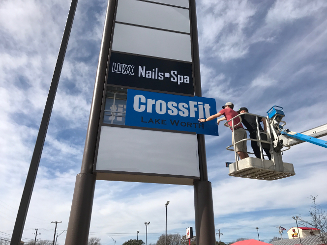 custom sign CrossFit Lake Worth