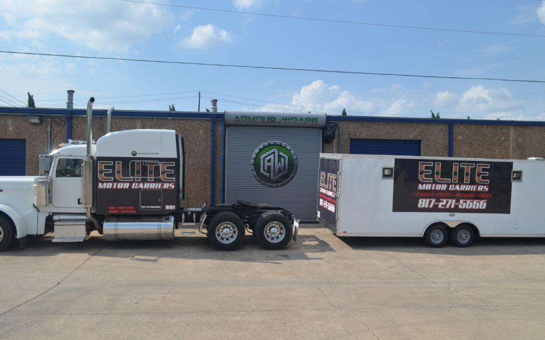 Semi Truck Wrap Elite Motor Carriers