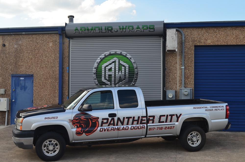 Advertisement Wrap Panther City Overhead Door
