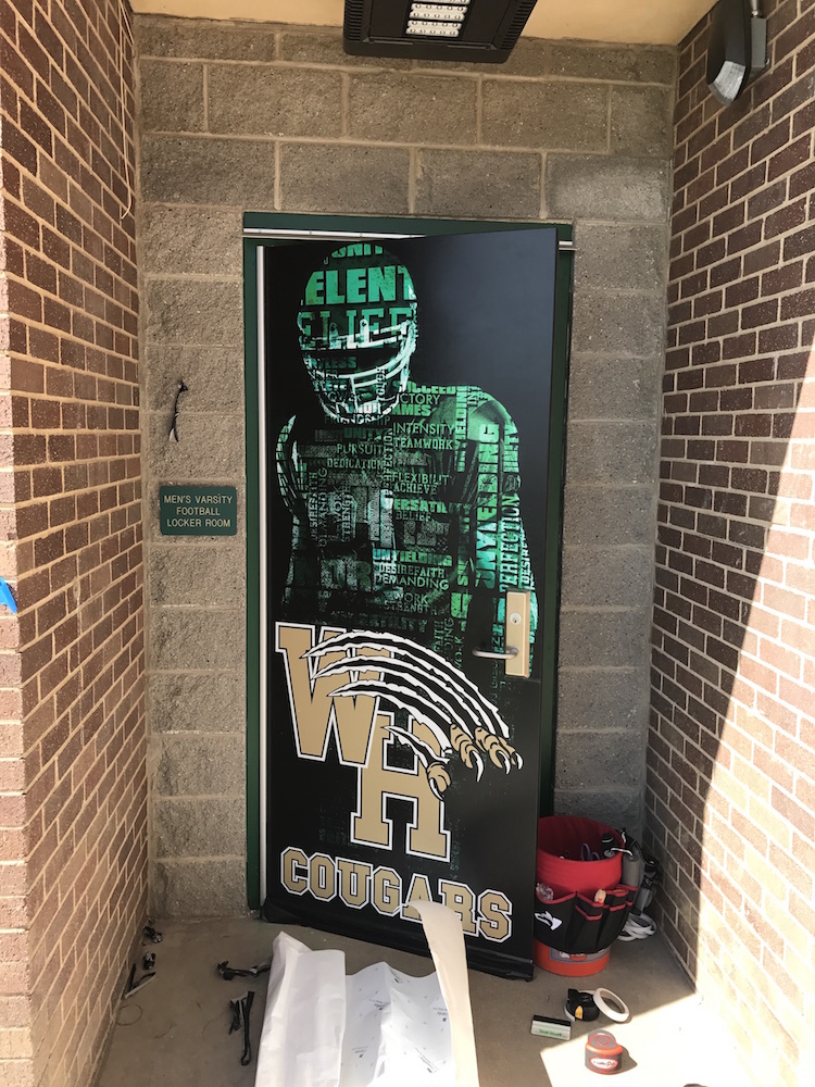 Athletic Door Wrap Western Hills High School