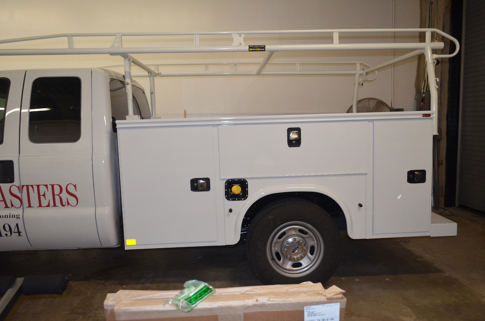 before HVAC truck wrap Comfort Masters