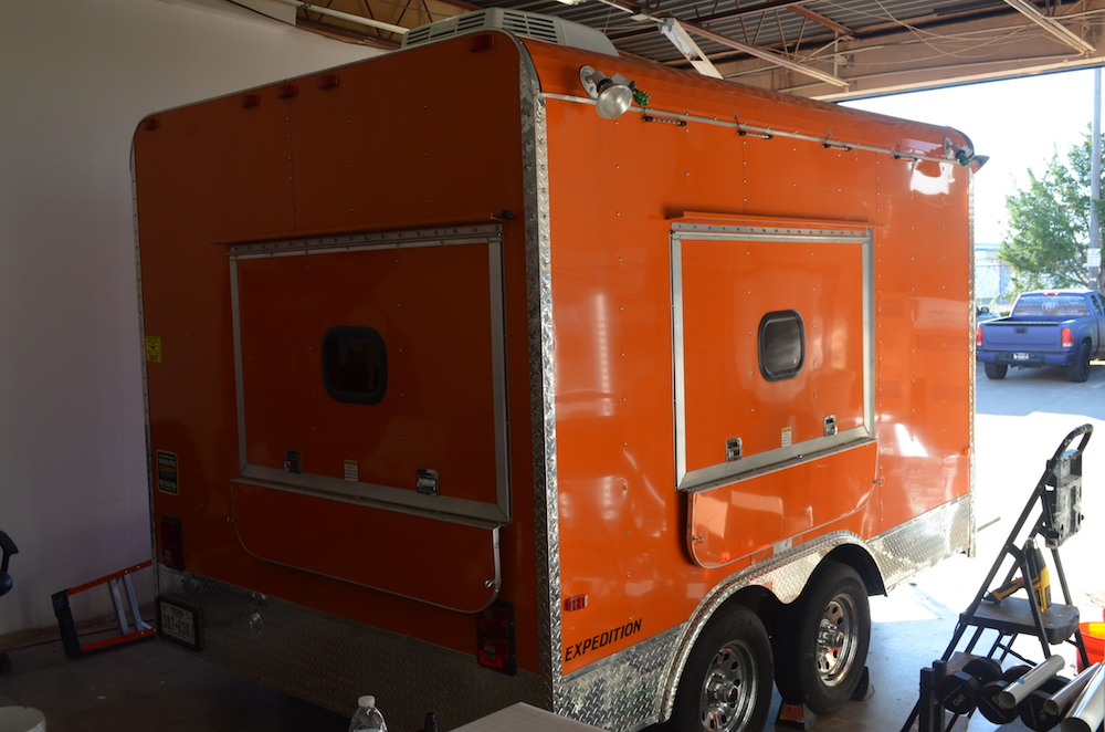Trailer Dog House trailer wrap the dog house - trailer wraps fort worth - armour wraps