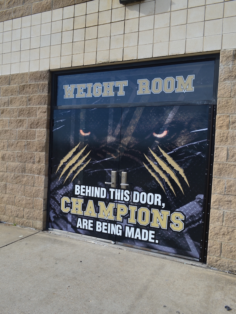 Custom Door Decals Kaufman Lions