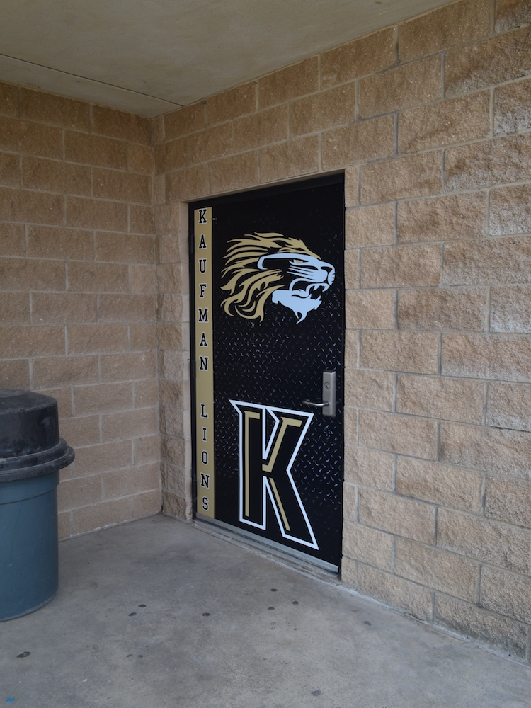 Custom Door Wrap Kaufman Lions