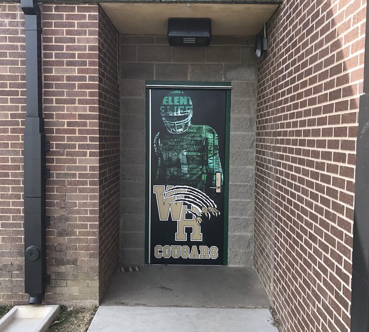 Genial Door Wraps Western Hills High School
