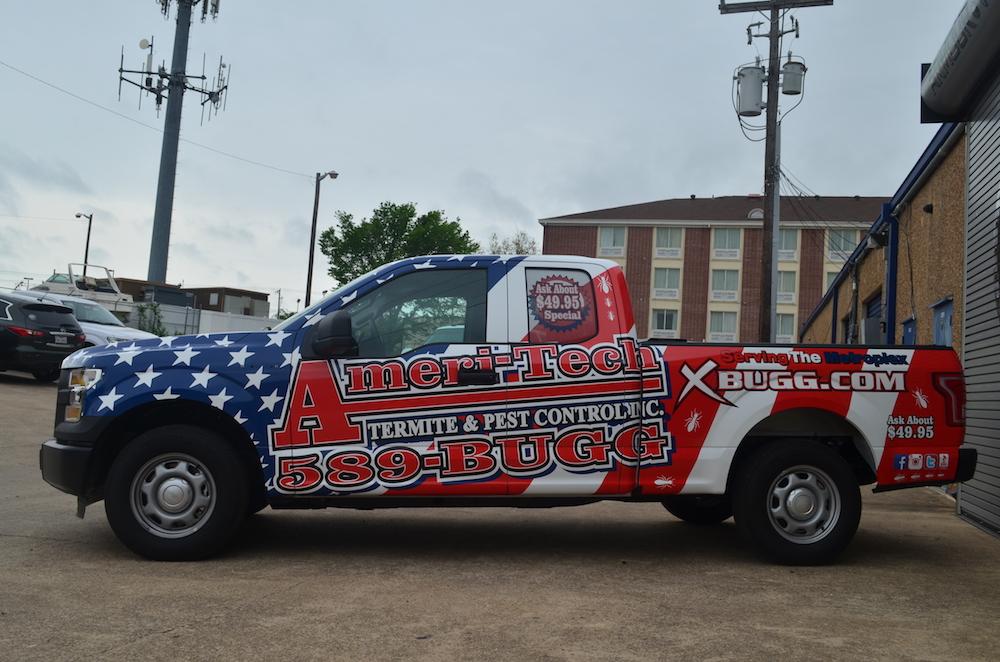 pest control truck wrap Ameri-Tech