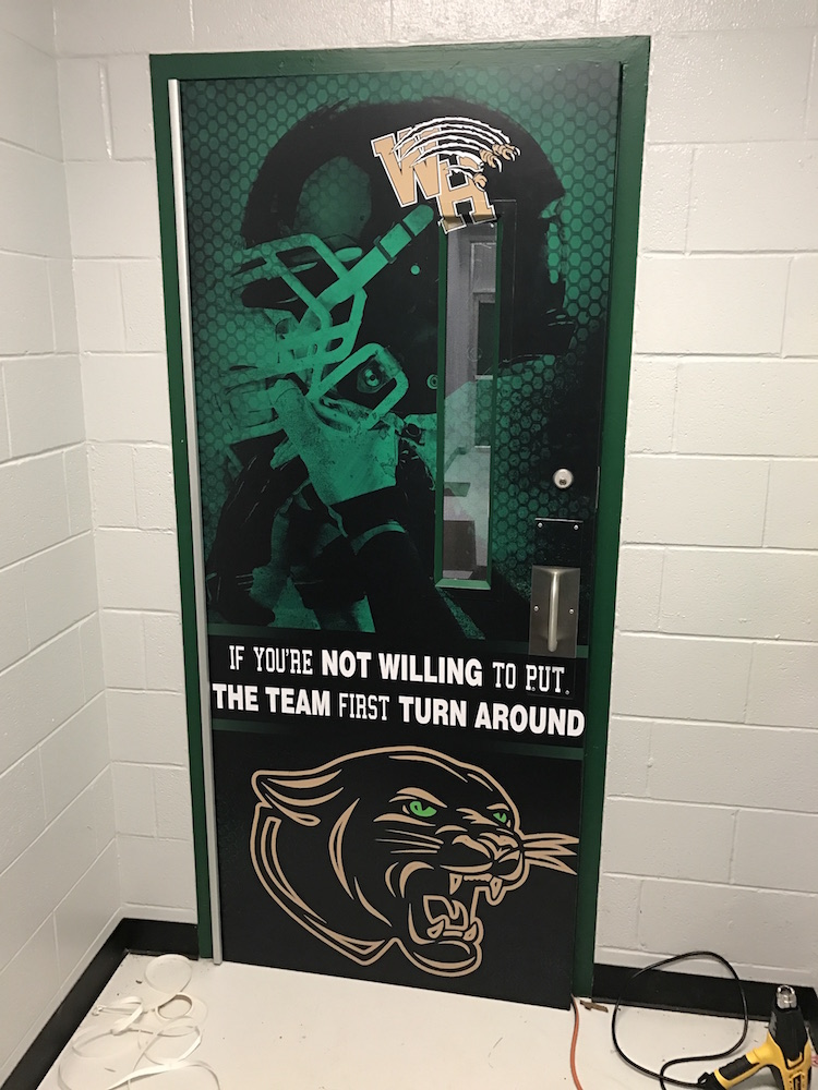 Custom Wrapped Door Western Hills High School