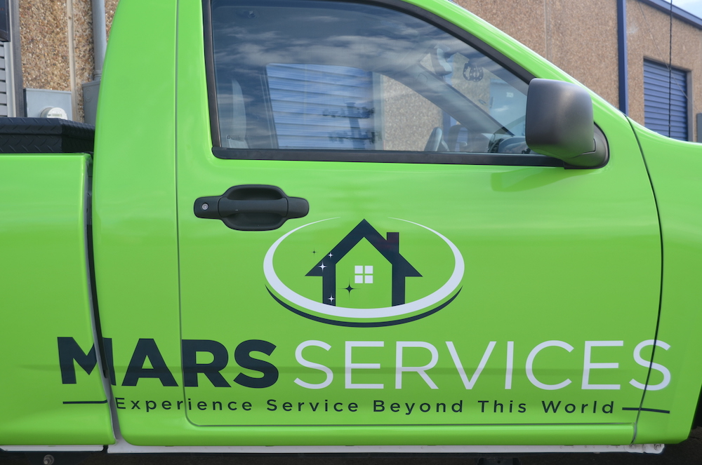 fleet wrap Mars Cleaning Services