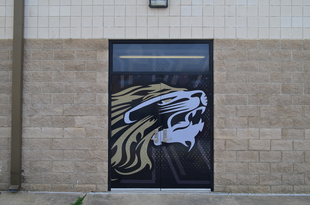 Door Wrap Kaufman Lions