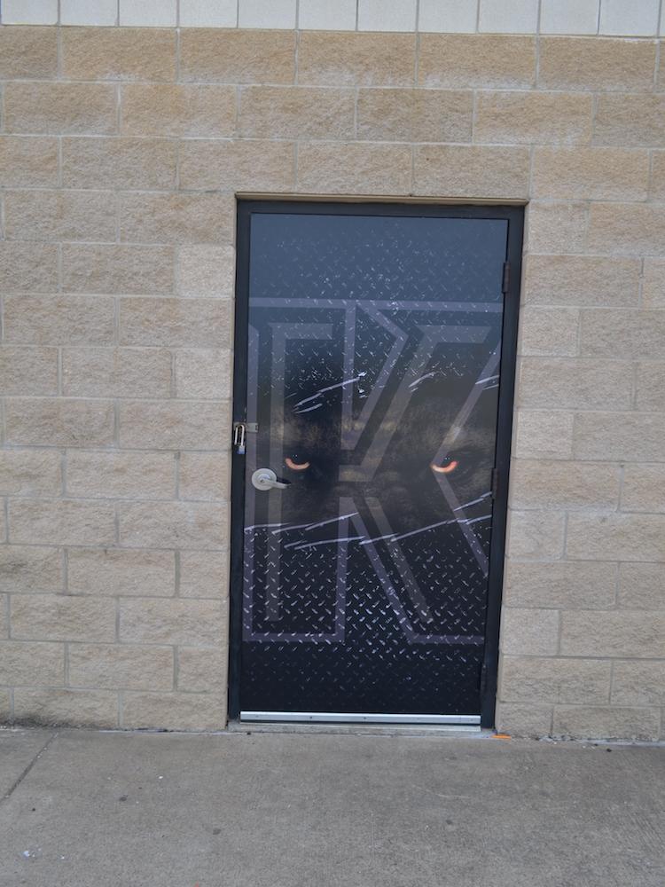 Door Wraps Kaufman Lions
