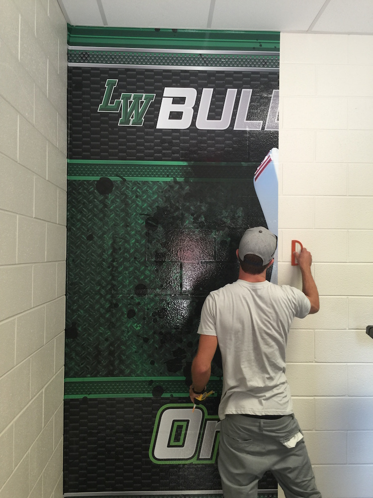 Wall Wrap BullFrog Football Athletic Facility