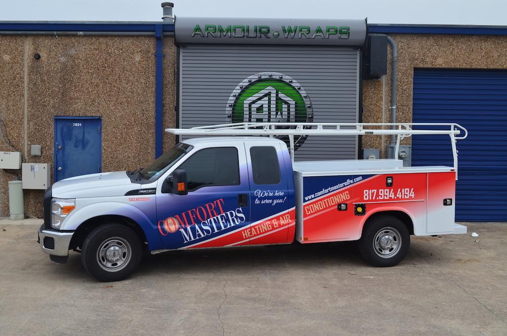 HVAC Truck Wrap Comfort Masters
