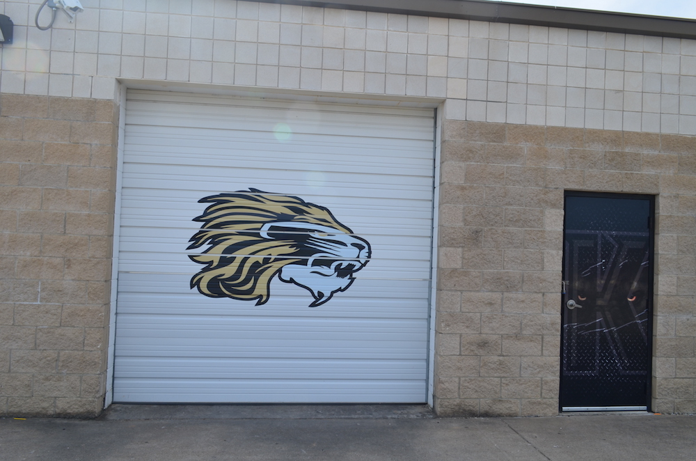 Overhead Door Decal Kaufman Lions