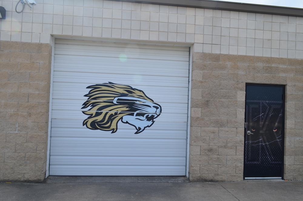 Overhead Door Decal Kaufman Lions
