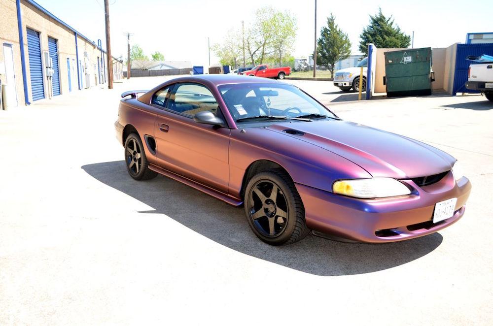 Color Flip Wrap Mustang
