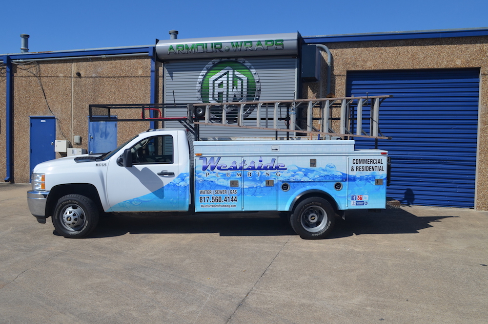 plumbing truck wrap Westside Plumbing