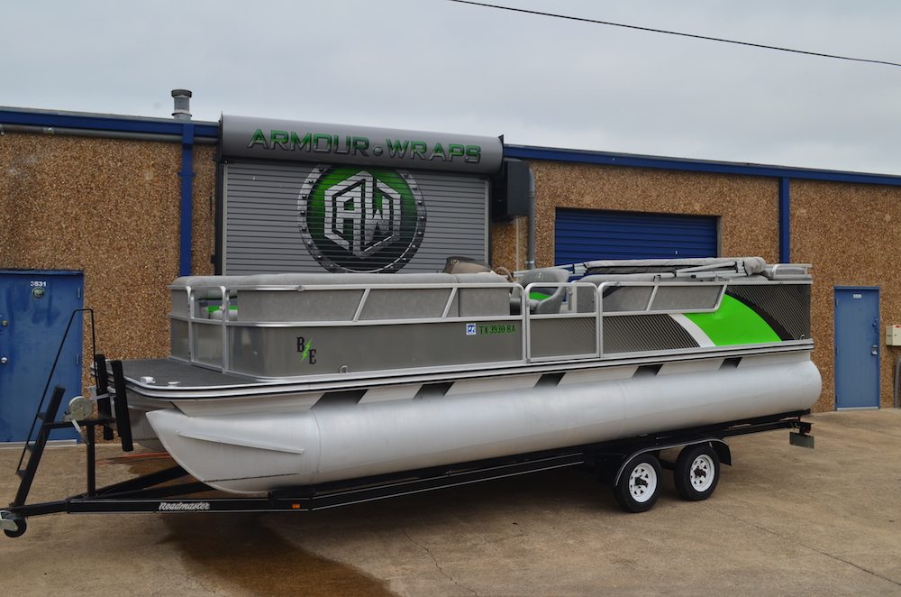 pontoon boat wrap