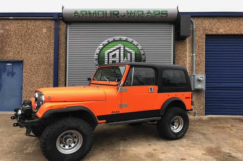 satin wrap CJ 7 Jeep