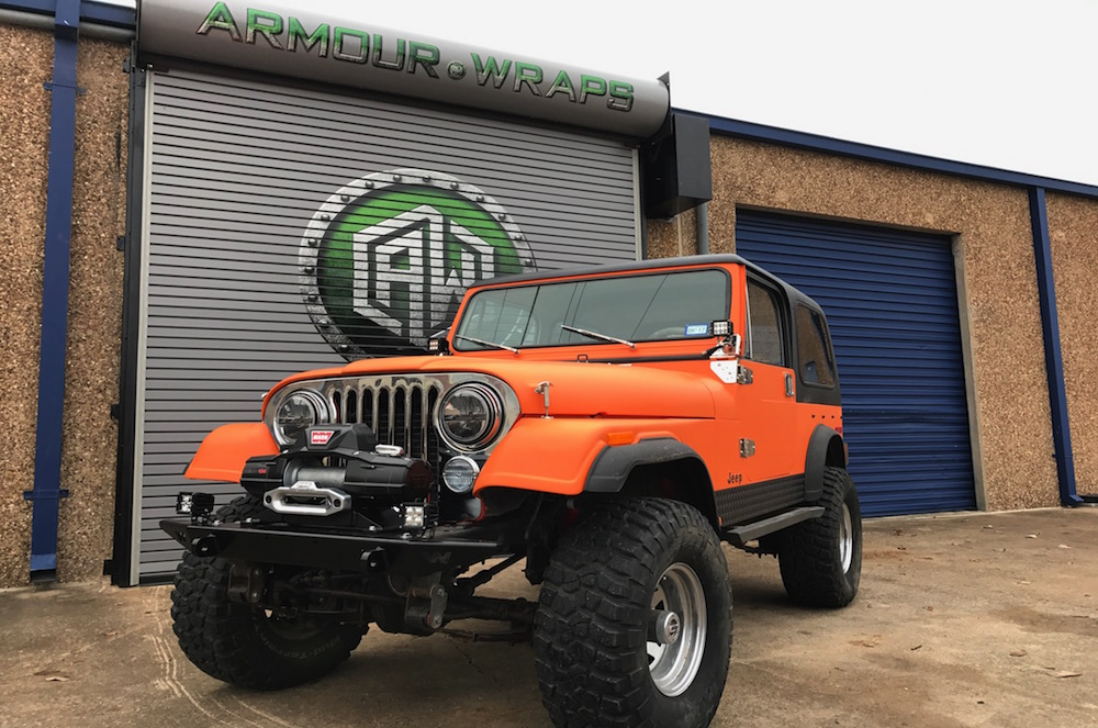 Satin Wrap Cj 7 Jeep Satin Wraps In Fort Worth Tx