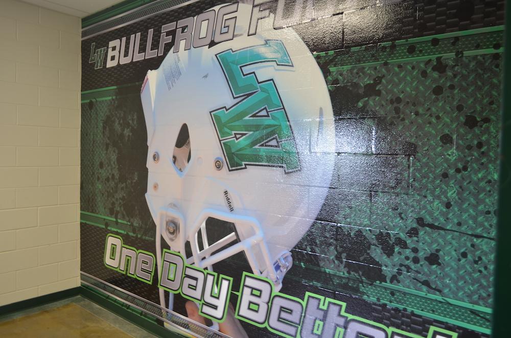School Wall Wraps BullFrog Football