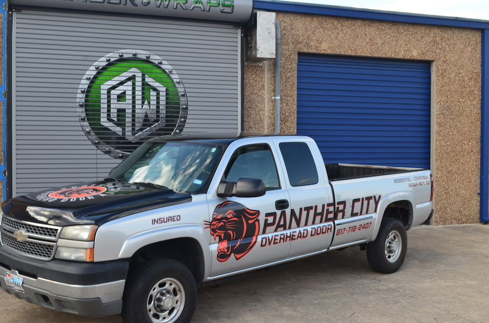 Advertisement Wrap Panther City Overhead Door