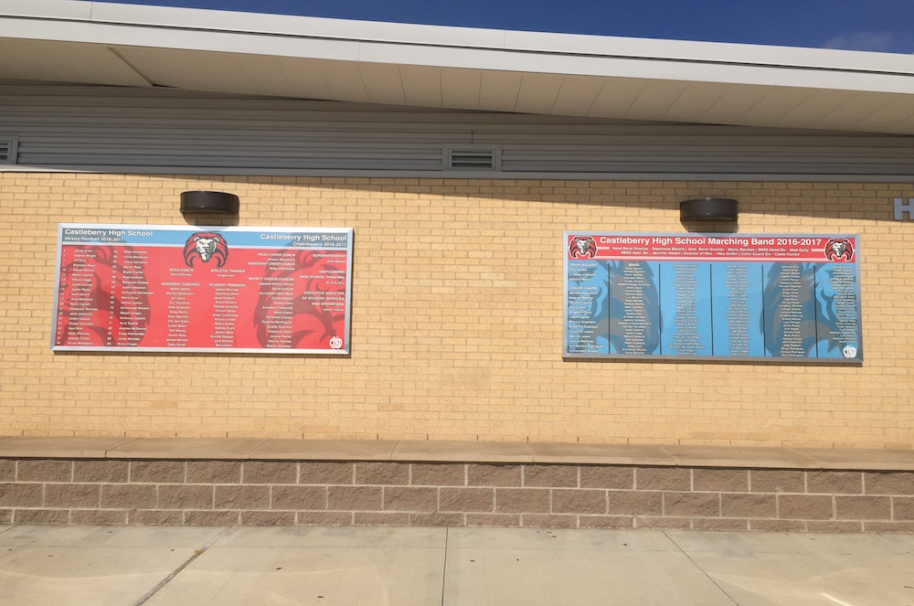 custom signs Castleberry High School