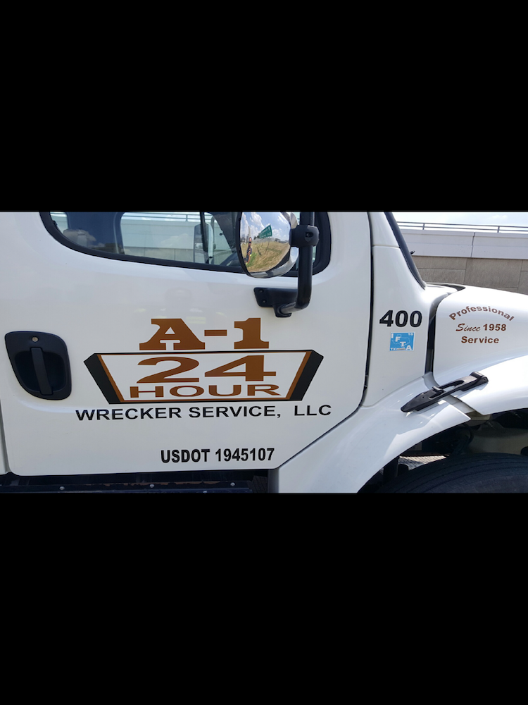 vinyl decals A 1 Wrecker Service