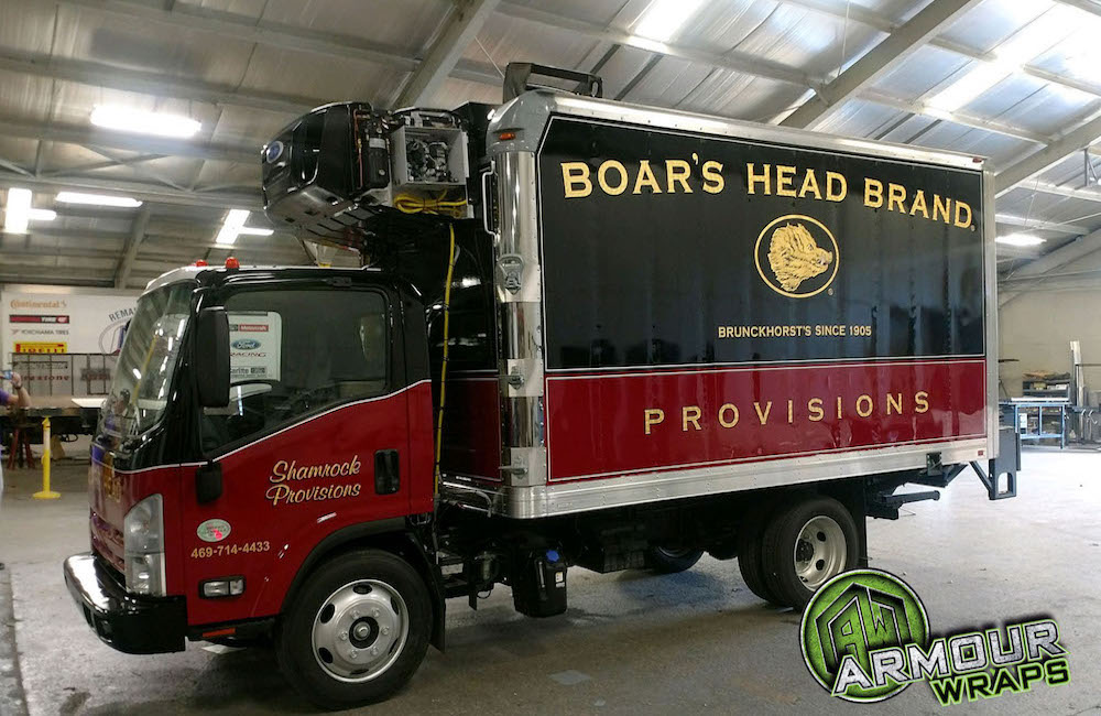 Box Truck Wrap Boars Head Provisions Armour Wraps In