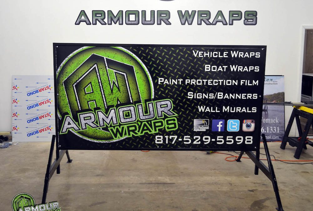 Custom Printed Curb Sign Armour Wraps