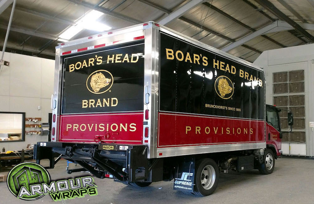 box truck wrap Boars Head Provisions