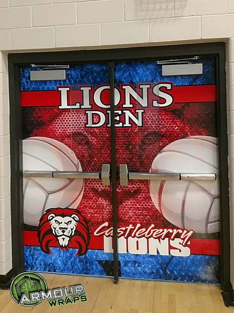 Double Door Wraps Castleberry High School