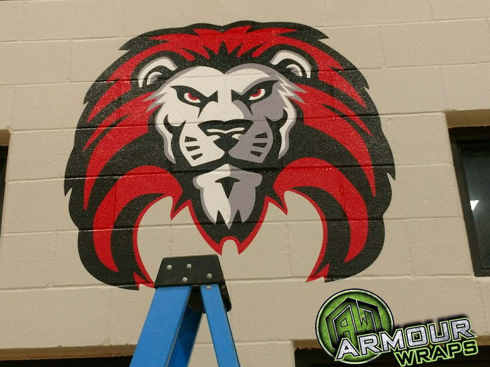 custom gym graphics castleberry high school
