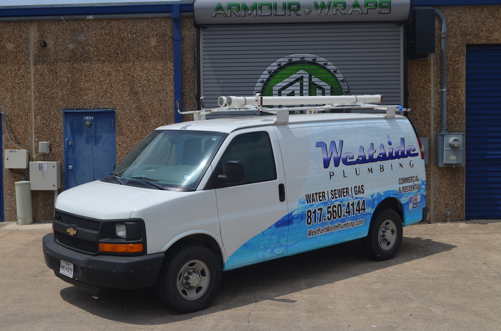 Van Wrap Westside Plumbing Van Wraps In Fort Worth