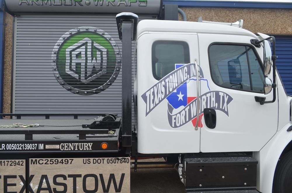 fleet truck wrap Texas Towing