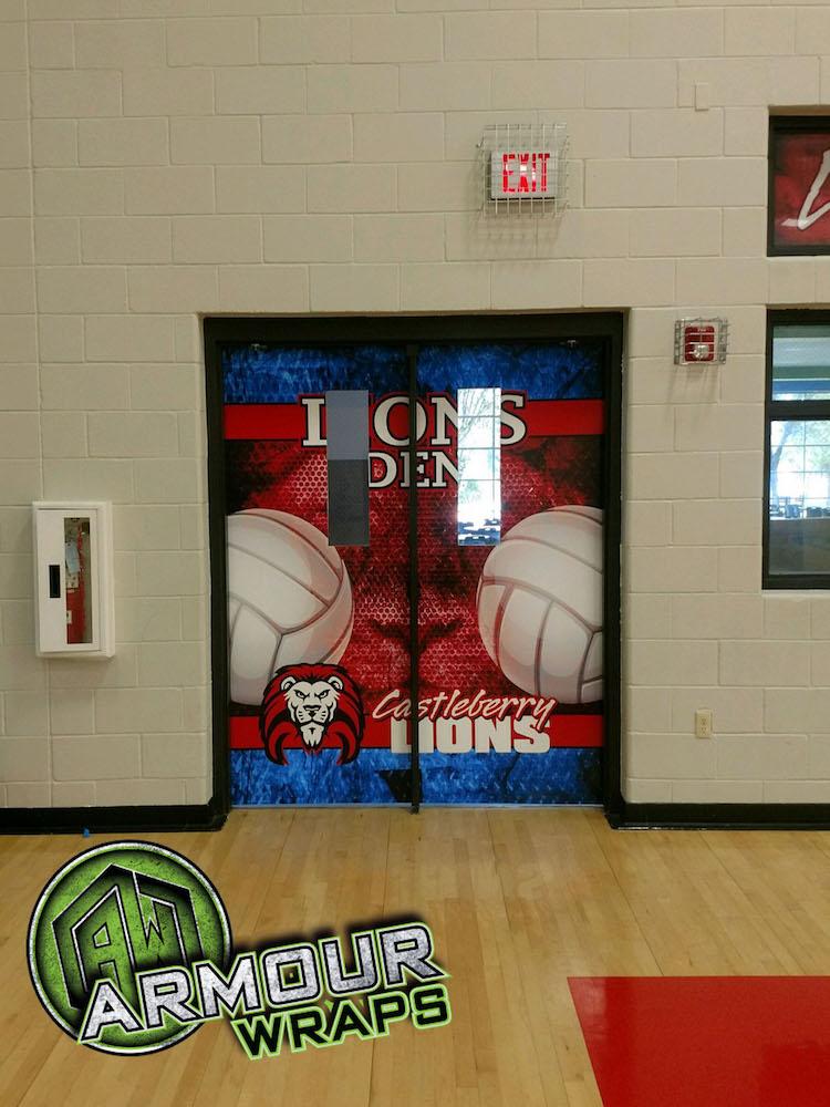 Volley Ball Door Wrap Castleberry High School