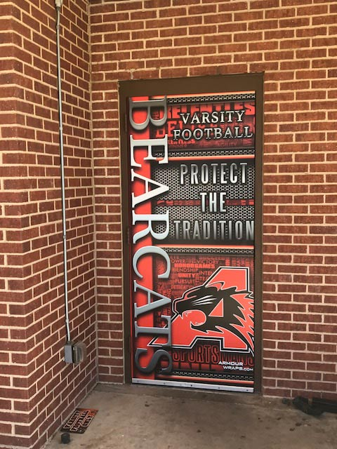 Aledo-Bearcats-Door-Wraps
