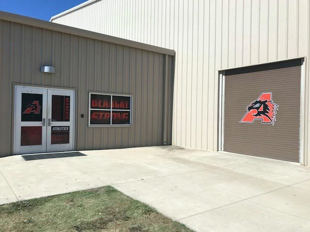 Door Wraps Athletic Facility Graphics