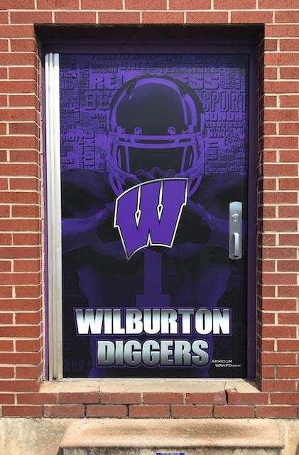 Facility Graphics School Branding With Wall Door