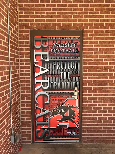 Facility Graphics School Branding With Wall Door