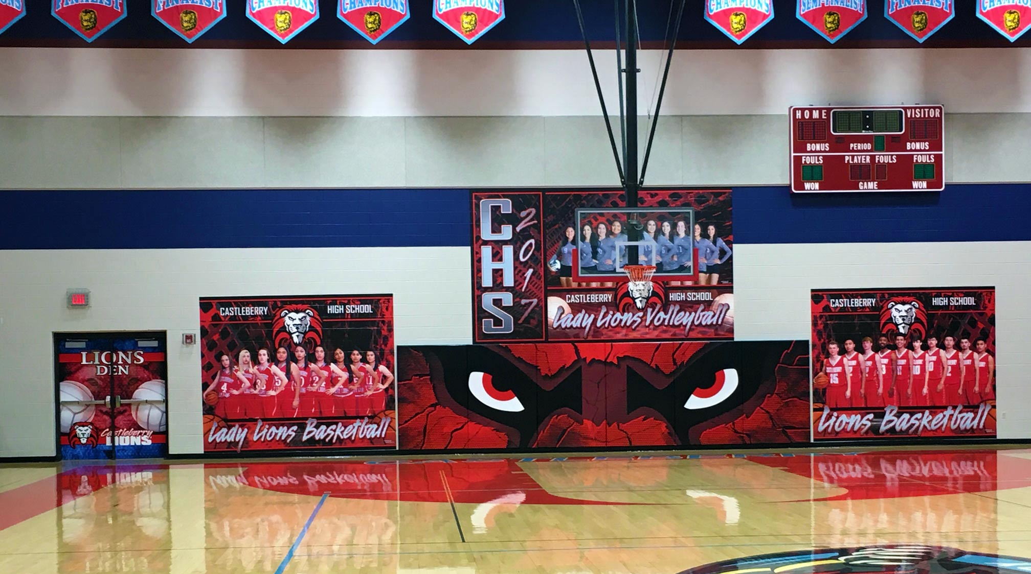 Athletic Facility Wall Wraps