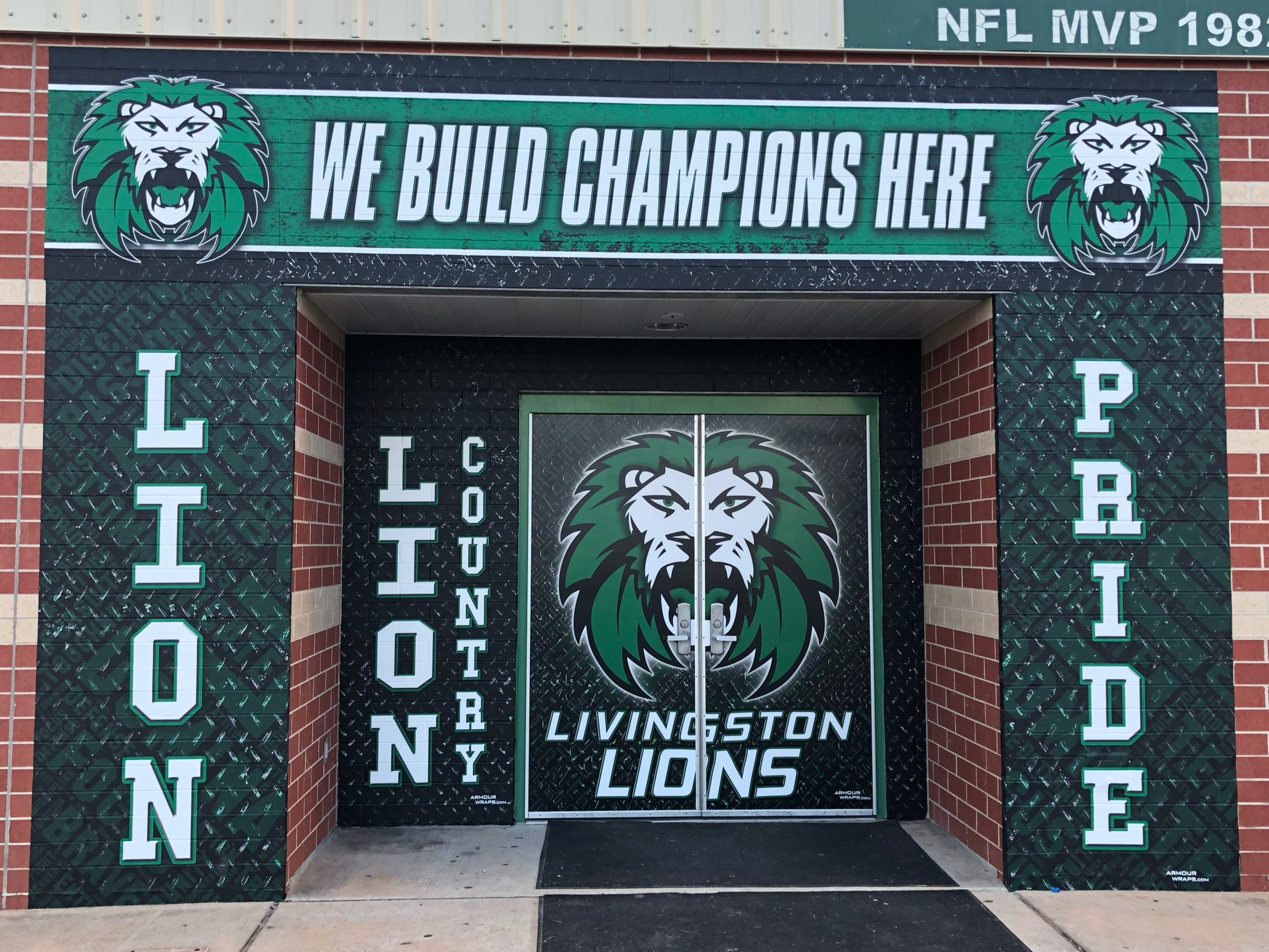 custom athletic door wraps